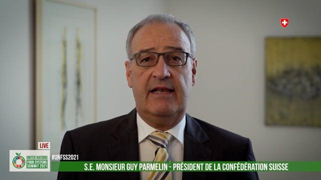 H.E. Mr. Guy Parmelin, President, Swiss Confederation