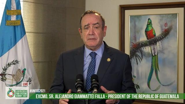 Excmo. Sr. Alejandro Giammattei Falla, President of the Republic of Guatemala