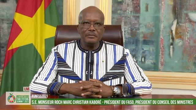 S.E. Roch Marc Christian Kabore, President, Burkina Faso