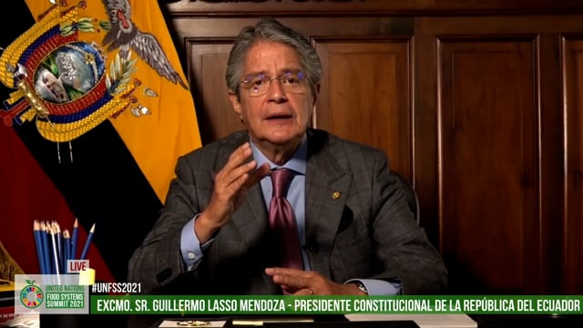Excmo. Sr. Guillermo Lassom, President, Republic of Ecuador