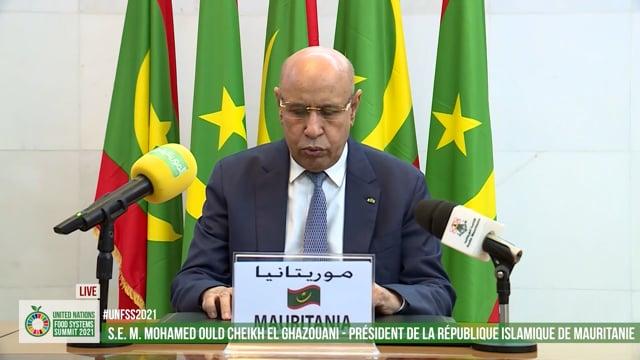 H.E. Mohamed Ould Cheikh El Ghazouani, Président de la République Islamique de Mauritanie