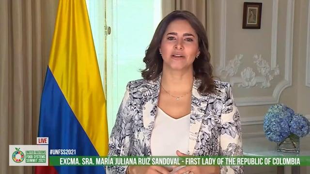 Excma. Sra. María Juliana Ruiz Sandoval, First Lady of Colombia