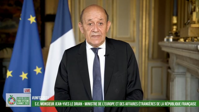 H.E. Jean-Yves Le Drian, Minister of Europe and Foreign Affairs, France