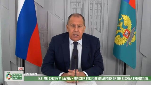 H.E. Mr. Sergey V. Lavrov, Minister of Foreign Affairs, Russian Federation
