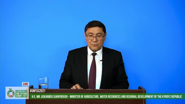 H.E. Askarbek Djanybekov, Minister, Ministry of Agriculture, Water Resources and Regional Development of the Kyrgyz Republic