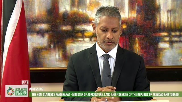 The Hon. Clarence Rambharat - Minister of Agriculture, Land and Fisheries of the Republic of Trinidad and Tobago